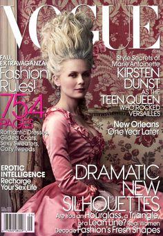 Vogue September 2006  Kirsten Dunst editorial of Marie Antoinette-esque fashion.