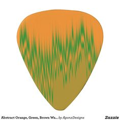 Abstract Orange, Green, Brown Wave Pattern