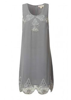 """Grey Blue embellished Dress - Vintage """"New"""""""