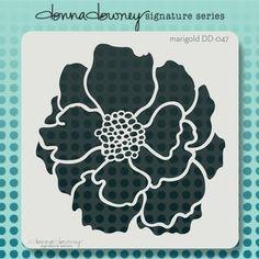 iStencils carries the entire Donna Downey stencil collection. Shop iStencils today for Donna Downey stencils Stencil Flor, Bird Stencil, How To Make Stencils, Silhouette Art, Silhouette Portrait, Stencil Designs, Marigold, Flower Prints, Diy Art