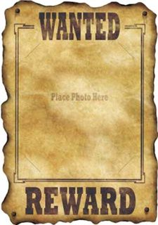 Western Decorations Western Wanted Sign $1.29