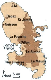 Rhum Agricole - Carte des distilleries