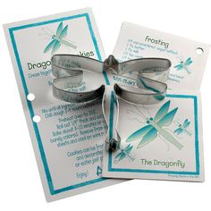 Tin Dragonfly Cookie Cutter with Recipe Cards