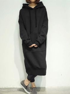 7 Colors Casual Women Solid Color Long Sleeve Pocket Hooded Sweatshirt Dress at Banggood Moda Korea, Hooded Sweatshirts, Hoodies, Fashion Sweatshirts, Sweatshirts Online, Plus Size Shirts, Sweatshirt Dress, Long Hoodie Dress, Trendy Dresses