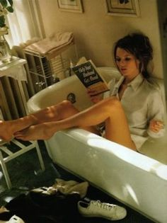 Photos of bathrooms - luscious blog - Kate Moss in bath.jpg