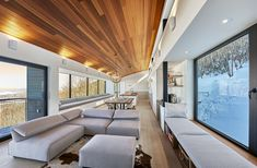 "curtis designed this modern ski chalet located in Lac Archambault, Quebec, Canada. It was completed in February ""This modern ski chalet was designed as a weeke… Ski Chalet, Alpine Chalet, Chalet Design, House Design, Loft Stil, Style Loft, Modern Mountain Home, Forest Design, Wooden Cabins"