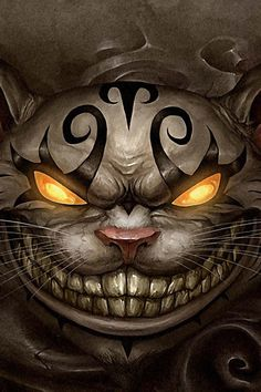 Cheshire Cat / Alice Madness / Iphone Wallpaper