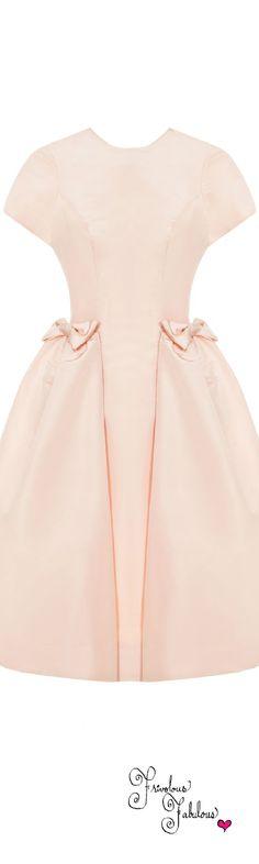 Frivolous Fabulous - Katie Ermilio Blush Bow Pocket Party Dress Spring Summer 2014