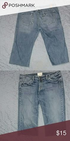 "Maurice's premium capri's Sale!! Distressed look. Size 11/12. Inseam 17"" Shorts Jean Shorts"