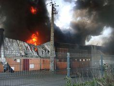 Fogo destruiu fábrica em Estarreja