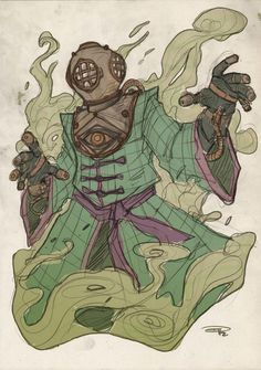 Mysterio, Steampunk version from the Spiderman Marvel universe. Comic Book Characters, Comic Character, Comic Books Art, Comic Art, Marvel Villains, Marvel Comics Art, Marvel Heroes, Thor Marvel, Captain Marvel