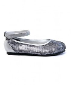 Silver Sequin Kirsten Shoe: For your princess! On sale $27.99.