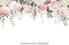 Flower Invitation, Watercolor Wedding Invitations, Flower Pattern Drawing, Flower Patterns, Wedding Frames, Wedding Cards, Watercolor Background, Watercolor Flowers, Frame Border Design