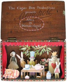 Fairytale in a box - Alice in Wonderland, The Cigar Box Productions by Tamsin Ainslie