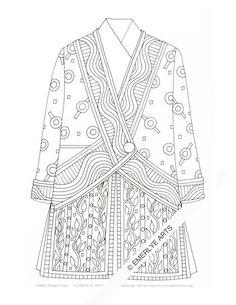 Printable Coloring Page - Shogun Coat