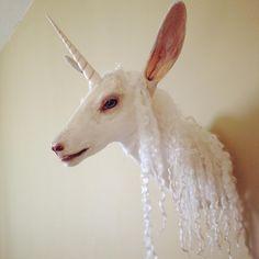 My latest creation, a taxidermy unicorn named Oberon. Taxidermy by Renee Everhart. #unicorntaxidermy #taxidermyunicorn