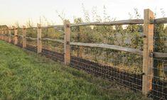 De plaatsing van hekwerk in kastanje is een duurzame oplossing. Het kastanjehout van de tamme kastanje is bijzonder taai, elastisch en duurzaam.