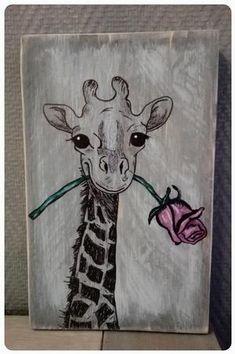 Bekijk de foto van jrom met als titel Giraf met roos. Met markers bewerkt. en andere inspirerende plaatjes op Welke.nl.
