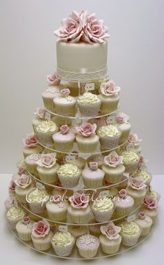 Cupcakes are fun! But, this is great idea because you still have a wedding cake…