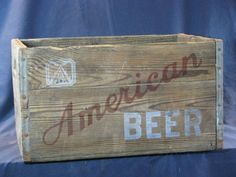 Vintage Wooden American Beer Crate Baltimore MD 1171