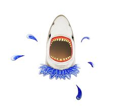 Will you ever be safe to look in the Mirror again....?......./\......... #SharkMirror ...../\.....