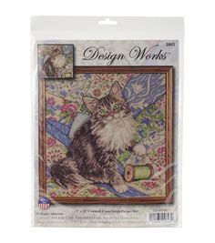 Design Works Cat On Quilt Counted Cross Stitch Kit