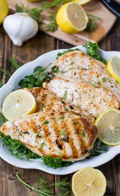 Healthy Grilled Greek Chicken