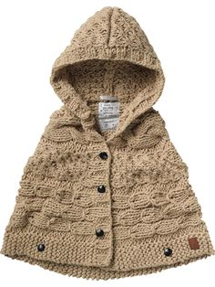 Chunky Knitted Hooded Poncho