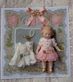 doll outfit on a card