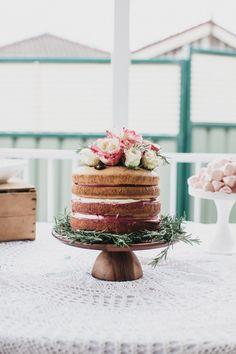 Champagne and Raspberry Curd Sponge Cake + A Bridal Tea-38