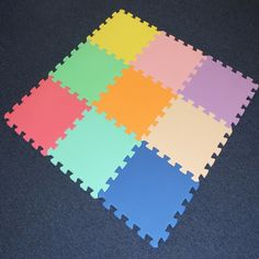 Shamz 9 Piece Interlocking Soft Kids Baby EVA Foam Activity Play Mat Floor…