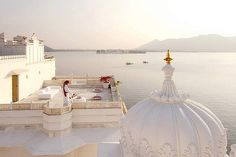 Regal treatment … the Taj Lake Palace is situated on the shores of Lake Pichola.