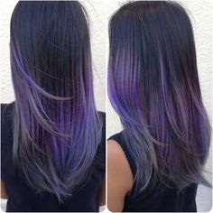 black to lavender to silver ombre by Savannah. | dream hair