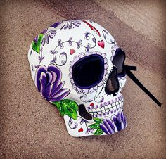Unisex Mens Halloween Masquerade Day of the Dead Dia De Muertos Sugar Skull Mask