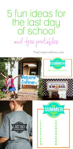 5 fun ideas for the last day of school | The Creative Mom