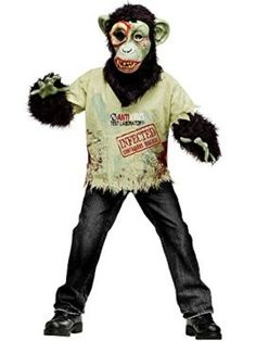 Fun World  Zombie Chimp Child Costume Tag a friend who can pull this off! #Zombie #Halloween #Costume