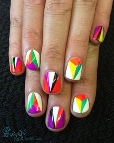 GEOMETRIC KALEIDOSCOPE… using @ColorClubNail by the illustrated nail