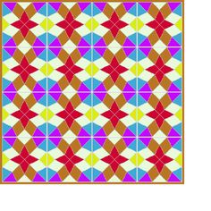 An example quilt using the Diamond Star block.