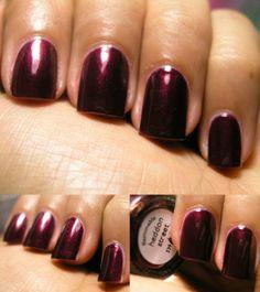 2 coats Nails Inc describes this as a deep metallic plum. Nails Inc, Plum, Nail Polish, Street, Fall, Google, Image, Closet, Autumn