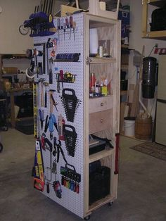 mobile pegboard wall/storage & display