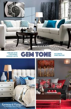 Bold colors, eye-catching patterns, and hues that pop are all that you need in any room of your home to make a statement that counts. Let your style stand out from the rest by incorporating vibrant gem tones in your favorite space. Sparkling sapphires & deep fiery reds are only two great trends this season to make your favorite room speak for itself. Hop on this colorful trend now or remember it for later.