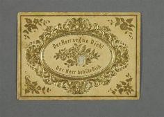 Taufbrief im Kuvert  Hayn im Harz, dat. 27. Januar 1856  Museum für Sächsische Volkskunst