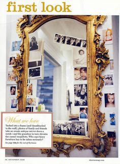 loved this mirror brought down to cas by the tucked in pics