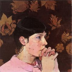 """huariqueje: """" Sally - Euan Uglow , 1967 British, 1932-2000 oil on canvas, 18 x 18 inches. """""""
