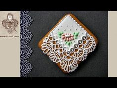 Lace handkerchief Cookies for Mother's Day. Cookie decorating with royal icing. Video tutorial - YouTube