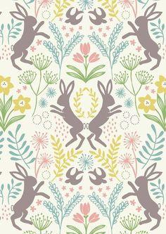 """""""Spring Hare"""" Hasen, weiß, Pastell Lewis & Irene von FrauFrech-und-HerrFroehlich auf DaWanda.com"""