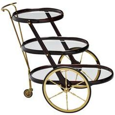 Cesare Lacca bar cart Italy 1950 | From a unique collection of antique and modern bar carts at https://www.1stdibs.com/furniture/tables/bar-carts/