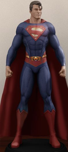 Henry Cavill As Superman (Classic Version). Credits: - Body: dulceptine's alteration of a render (possibly made for a lead figure of the character) b. Cavill As Superman Classic Action Comics 1, Dc Comics Art, Marvel Dc Comics, Comic Book Heroes, Comic Books Art, Superman Outfit, Superman Pictures, Superman Man Of Steel, Clark Kent