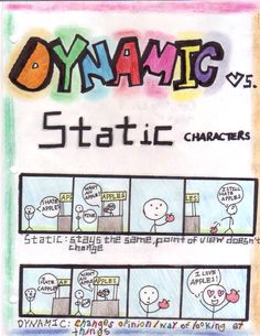 Dynamic vs. Static Character - YouTube. Create guided notes to go ...
