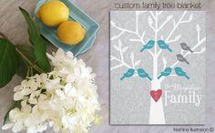 family tree blanket blanket personalized christmas gift idea for grandma for mom gift